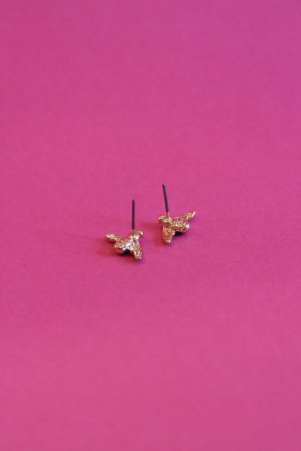 Enamel Bee Stud Earrings