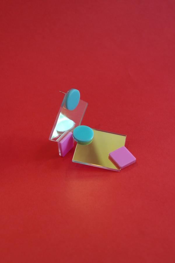 Iridescent Abstract Shape Earrings