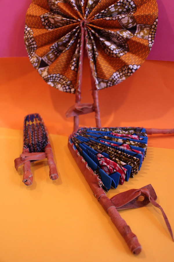 Kente fans - closed and opened detail