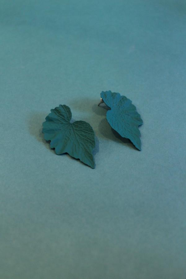 Coated Leaf Earrings