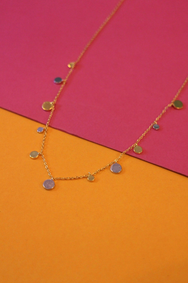 Gold & Silver Disc Necklace