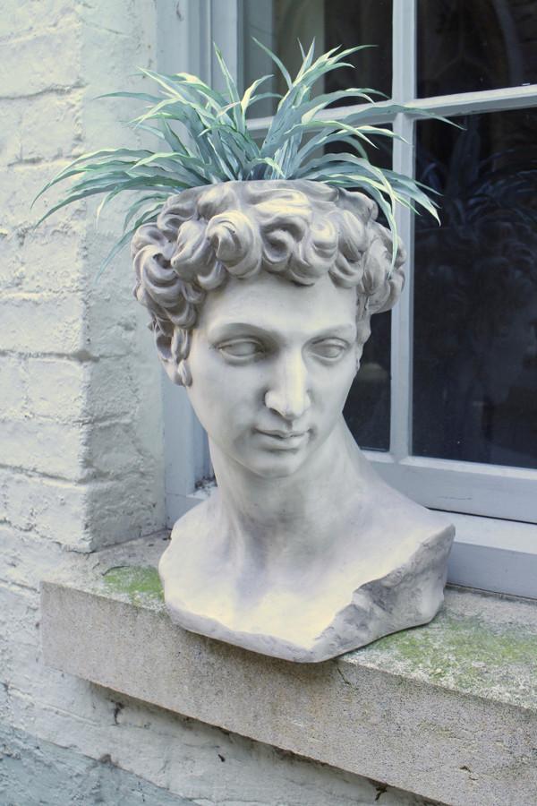 David Bust Flower Pot