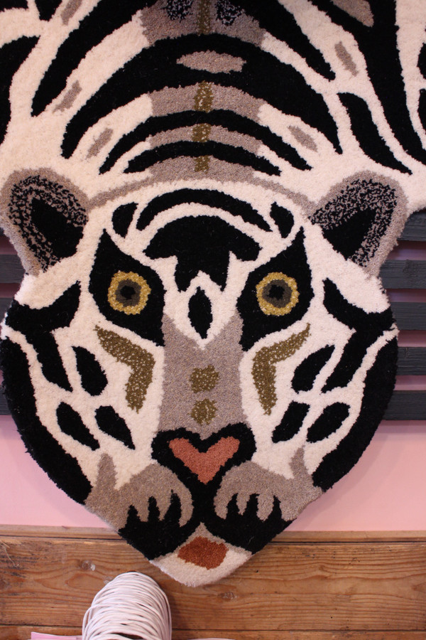 White tiger face detail