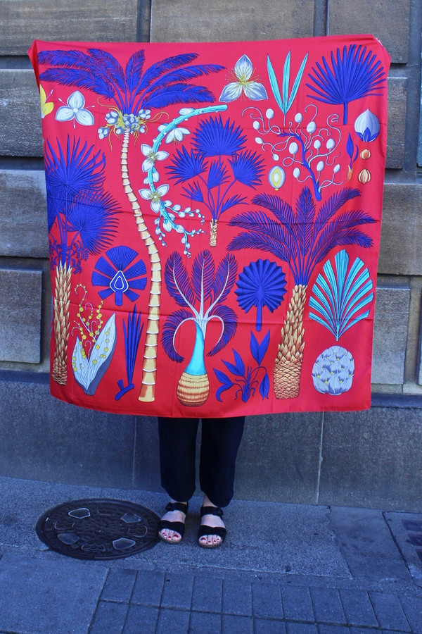 Botanical Pattern Silk Scarves