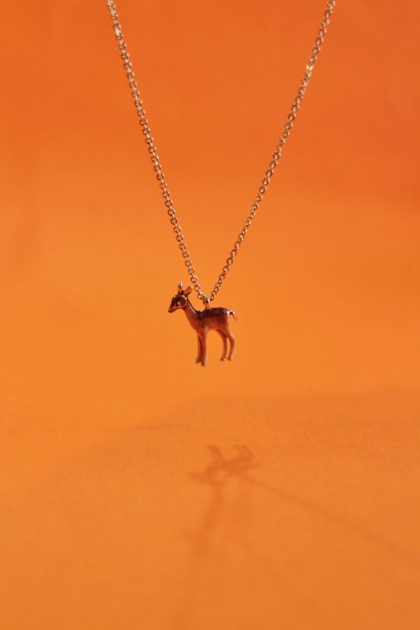 Enamel Fawn Short Necklace