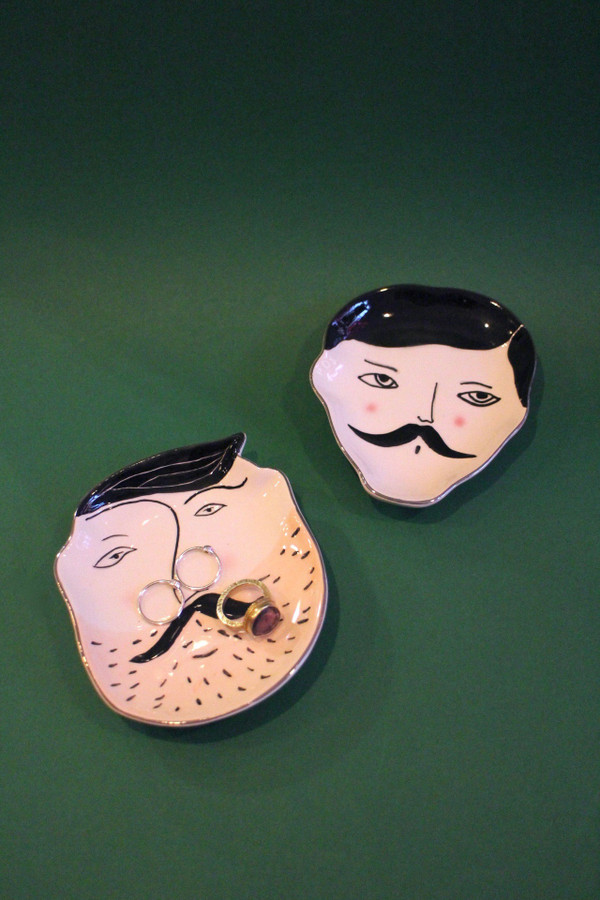 Dapper Man Face Trinket Dish