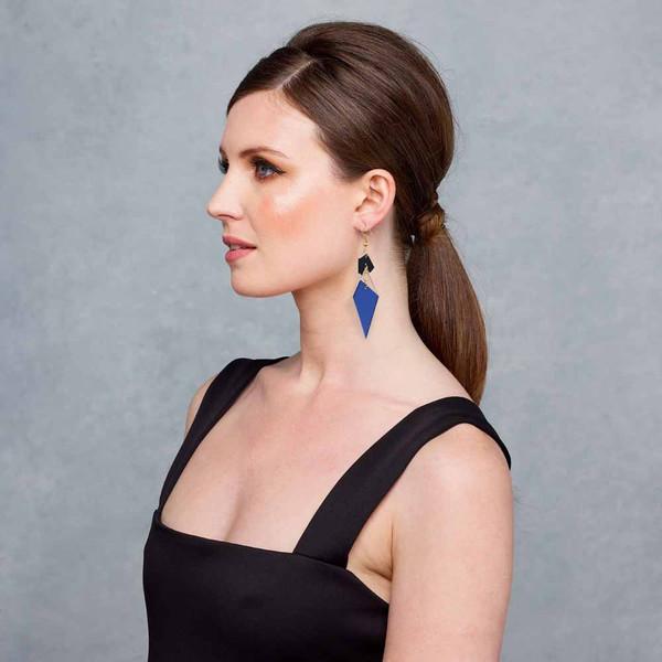 Abstract Diamond Earrings