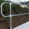 Ezyrail - Through stanchion (Galvanised) w/ Base Fixing Plate