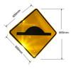 Speed Hump Sign (600MM) Diamond - Class 1 Reflective Aluminium