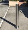 Surface Mount 90mm x 900mm Stainless Steel Bollard - 316 Marine Grade