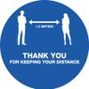 Social Distancing Floor Sticker - Anti Slip