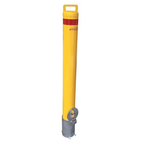 Removable 140mm Sleeve Lock Bollard - With Sleeve & Padlock
