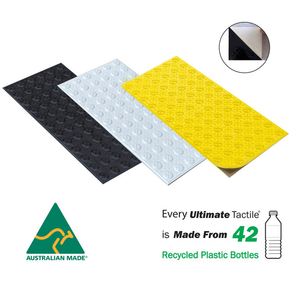 Ultimate Tactile Peel & Stick - Hazard 300mm x 600mm - Tough Aussie Made - VIC & QLD Roads Approved