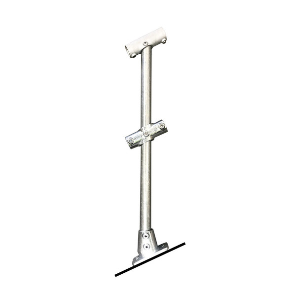 Ezyrail - Through stanchion (Galvanised) w/ Base Fixing Plate - 11°-30°