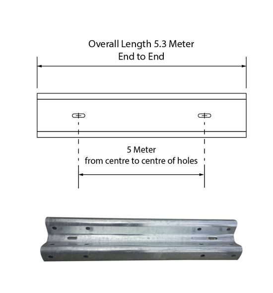 Guardrail 5M length – Galvanised