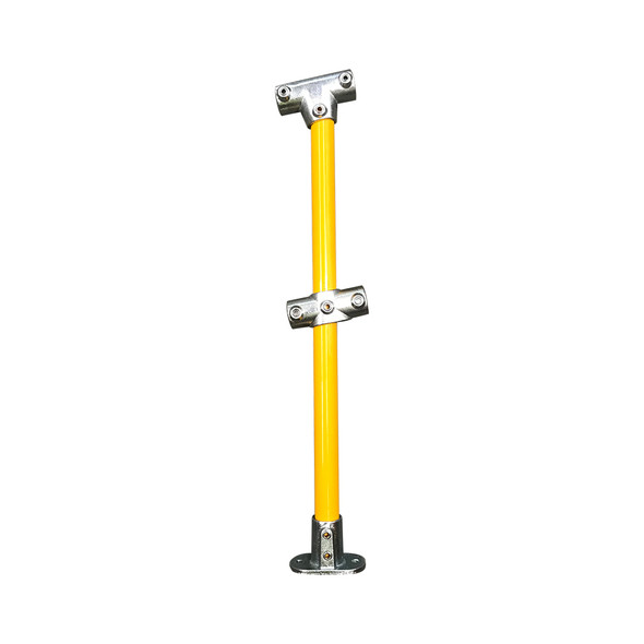 Ezyrail - Through Stanchion (Powdercoat) w/ Straight Angle Base Fixing Plate 0°-11° fittings