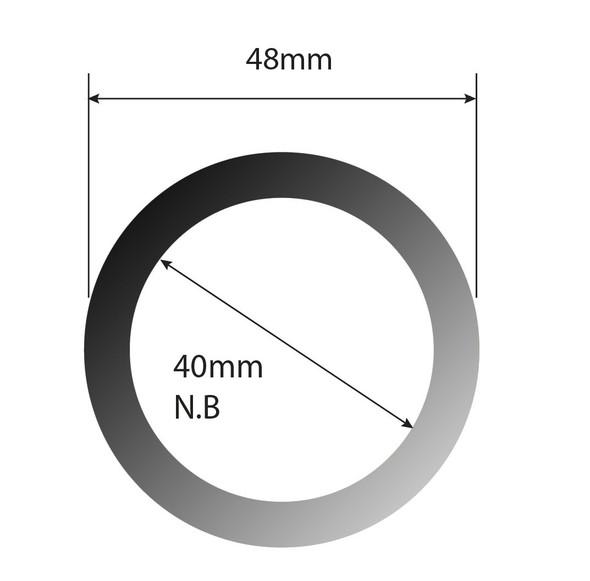Ezyrail - Mid/Top Rail (Galvanised) 2 Metre Length