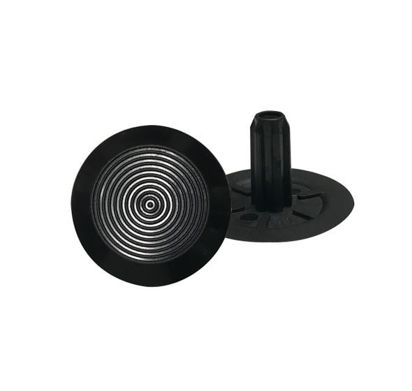 Tactile Indicator Single Studs - TGSI Black Polyurethane Concentric Pattern