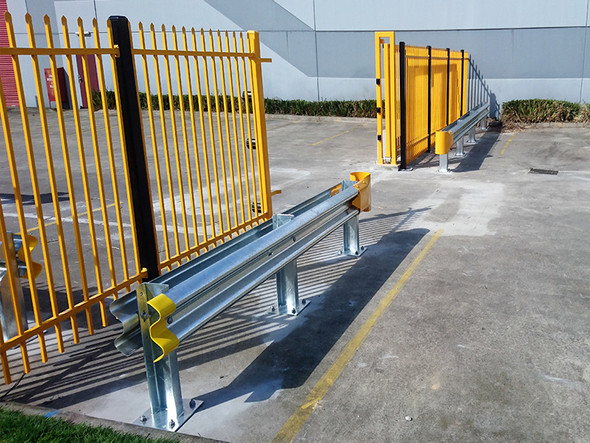 Guardrail End Protector - Safety Yellow