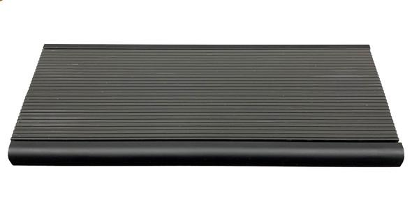 Stair Nosing - Anodised Black Aluminium 10MM Bullnose w/ 50mm Aluminium Insert - Black  - 10MM x 55MM