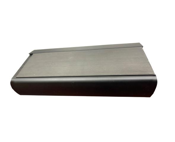 Stair Nosing - Anodised Black Aluminium 30MM Bullnose w/ 50mm Aluminium Insert - Black  - 30MM x 75MM