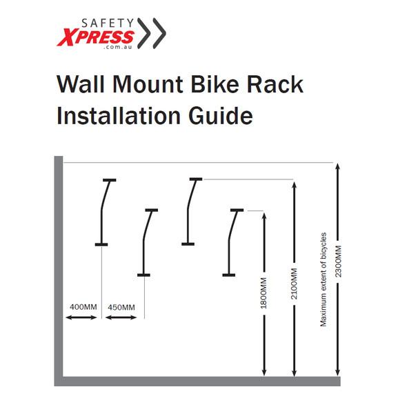 Wall Mount Bike Rack - Black