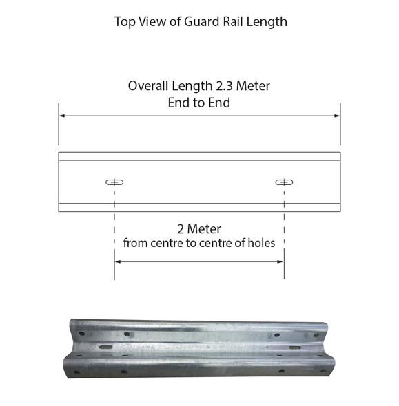 Guardrail 2M Length - Galvanised