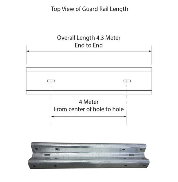 Guardrail 4M Length - Galvanised