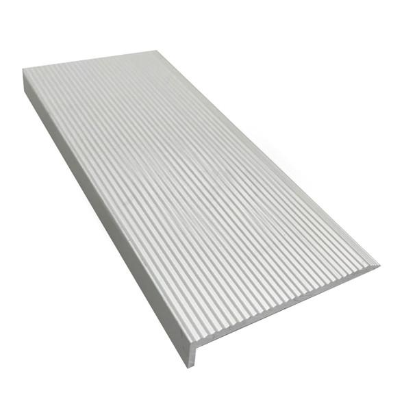 Natural Securatread Corrugated Aluminium Stair Nosing - Per Metre