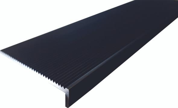 Black Securatread Corrugated Aluminium Stair Nosing - Per Metre