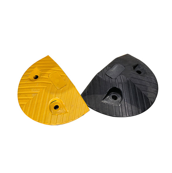 Rubber Compliant Speed Hump - End