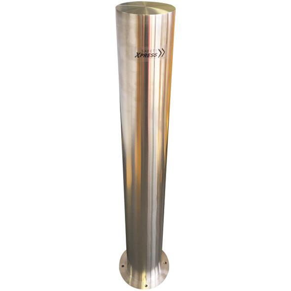 Surface Mount 168mm x 1200mm Stainless Steel Bollard - 316 Grade