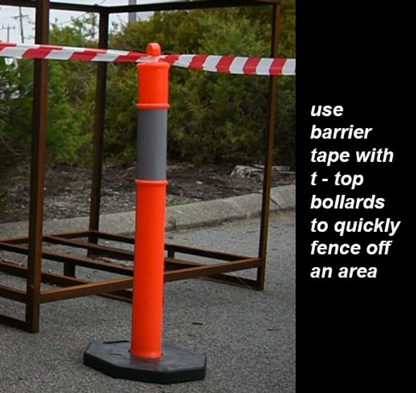 Barrier Tape - Red/White 50mm Wide 50 Meter Roll