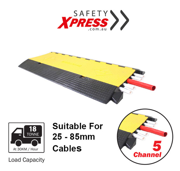 Cable Protector 5-Channel 18 Tonne