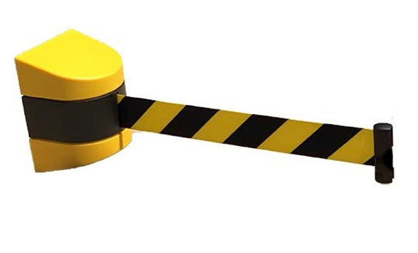 Wall Mounted Retractable Safety Barrier - 9 Metre
