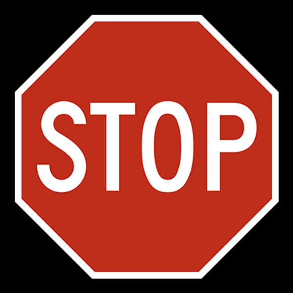 Stop Sign - Octagonal - Class 1 Reflective Aluminium