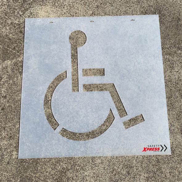 Line Marking Stencil - Disabled Parking