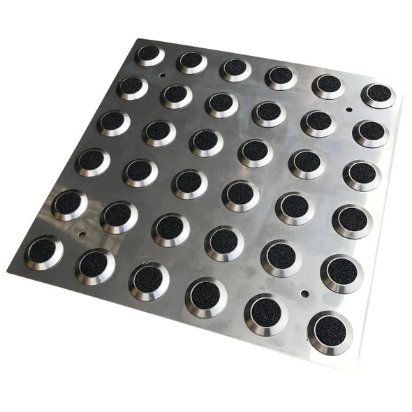 316 Stainless Steel Integrated Tactile Plate w/ Black Carborundum Insert