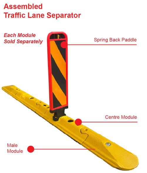 Traffic Lane Separation Kerb - Female End