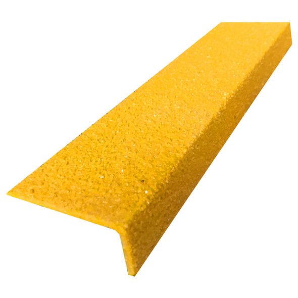 Fibreglass 70mmx30mm Stair Nosing  - Yellow - Sold Per Metre