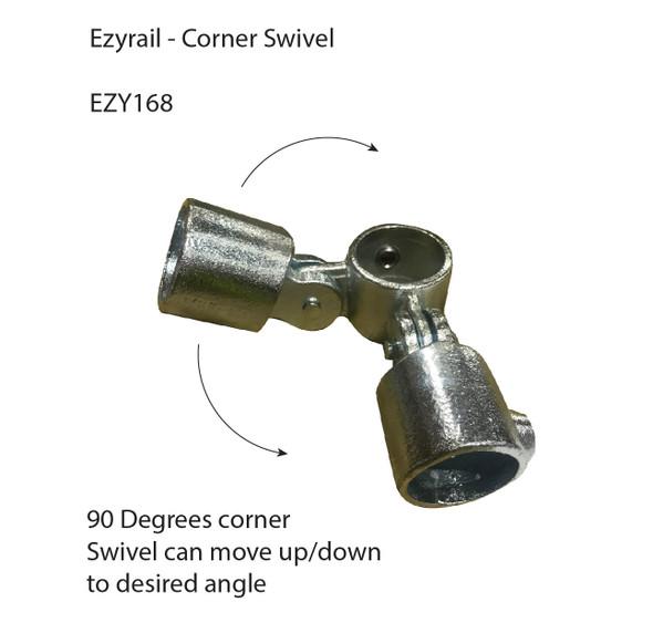 Ezyrail 168 - Corner Swivel 90°