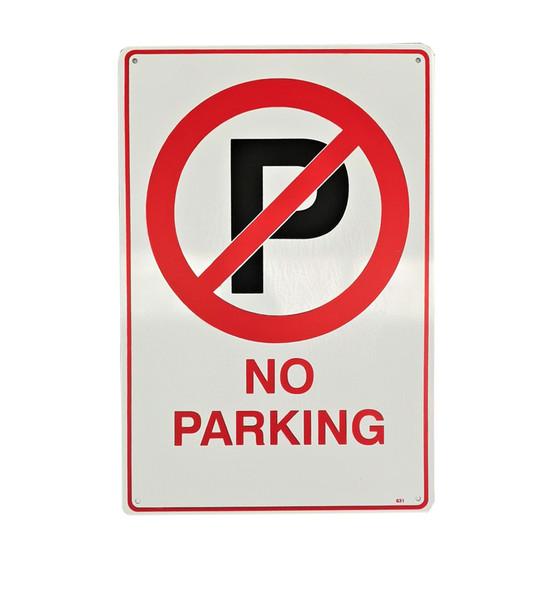 No Parking w/ Symbol (300mm x 450mm) - Metal
