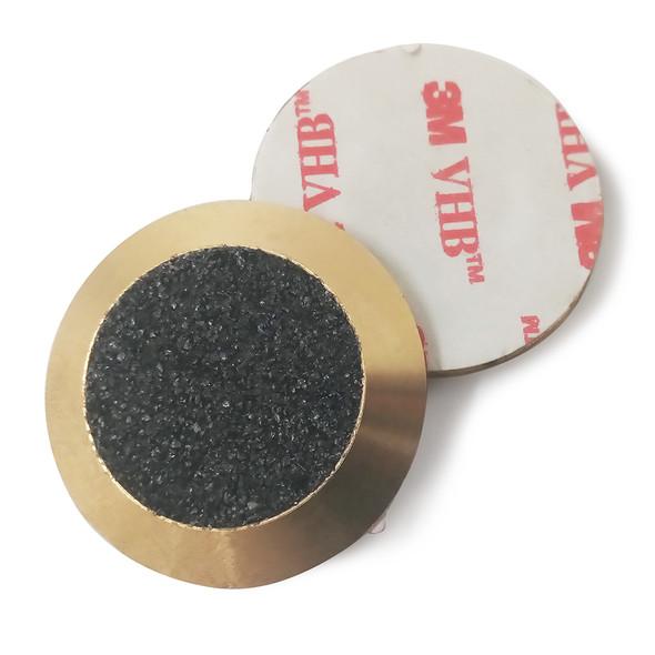 Tactile Indicator Single Studs - TGSI Brass Carborundum (3M Sticky Back)