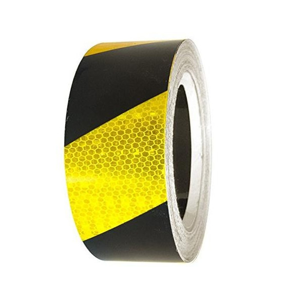 Reflective Tape Class 1 - Yellow and Black - 45 Meter Roll