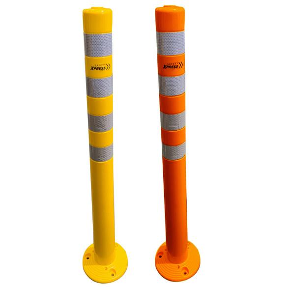 Super Flexi Bollard - 75mm x 1000mm - Yellow OR Orange