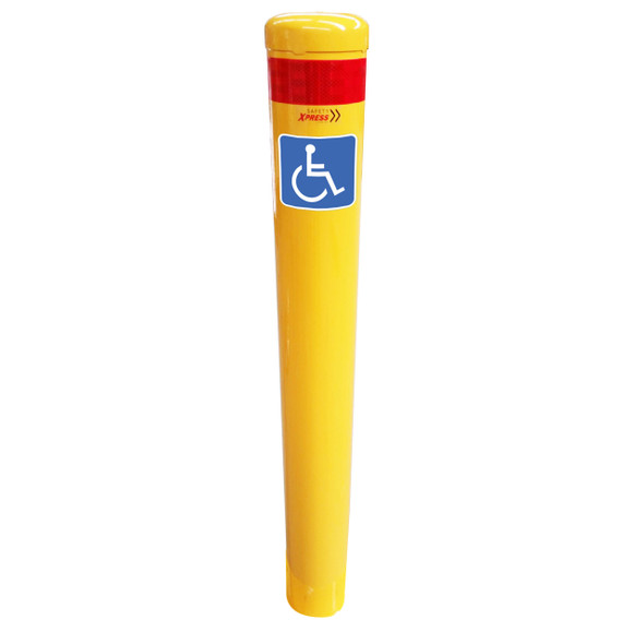 Shared Zone Disable Parking In-Ground Bollard 140mm x 1600mm