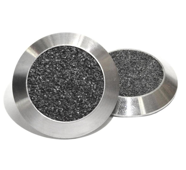 Tactile Indicator Single Studs - TGSI Stainless Steel w/  Black Carborundum insert