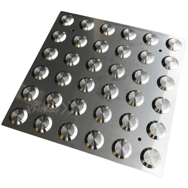 316 Stainless Steel Integrated Tactile Plate Classic 300 x 300mm