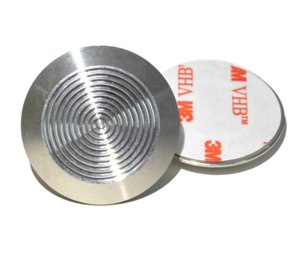 Tactile Indicator Single Studs - TGSI Stainless Steel Concentric (3M Sticky Back)