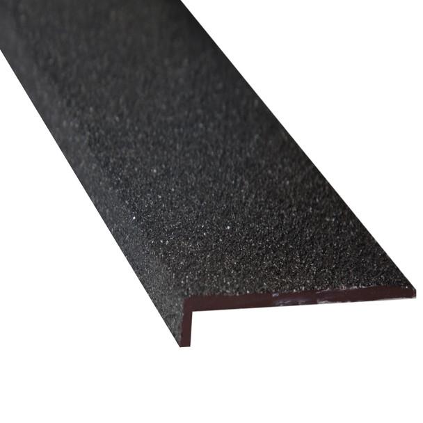 Fibreglass 70mmx10mm Stair Nosing Black - Per Metre